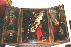 アントワープといえばルーベンス。ほら、フランダースの犬の主人公ネロが見たかったあの絵の作者。で、これがルーベンスの絵。